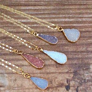 New Druzy Pendant Necklaces